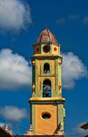 Beautiful color steeple in church, Trinidad, Cuba by Bill Bachmann - various sizes, FulcrumGallery.com brand