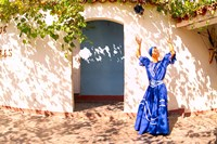 African Dancer in Old Colonial Village, Trinidad, Cuba by Bill Bachmann - various sizes