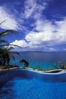 BVI, Virgin Gorda, Little Dix Bay, Resort, poolside by Walter Bibikow - various sizes