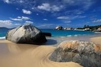 Beach on Spring Bay; British Virgin Islands Fine Art Print