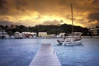 View of Flatts Village, Bermuda, Caribbean Fine Art Print