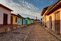 Early morning view of streets in Trinidad, Cuba Fine Art Print