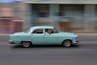 1950's era car in motion, Havana, Cuba by Adam Jones, 1950's - various sizes