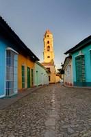 Bell Tower, Plaza Mayor at sunrise, Trinidad, Cuba by Adam Jones - various sizes, FulcrumGallery.com brand