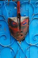 Mask on Callejon de Hamels building walls, Cuba by Adam Jones - various sizes