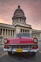 1950's era pink car,  Havana Cuba by Adam Jones, 1950's - various sizes