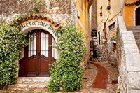 Jasmine covered entryway, Eze, Provence, France Framed Print