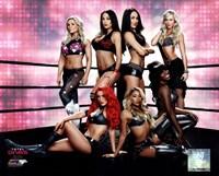 WWE Total Divas posing Fine Art Print