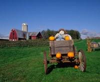 Pumpkin Man and Farm, Vermont Fine Art Print