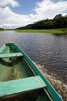 Dugout canoe, Arasa River, Amazon, Brazil Fine Art Print