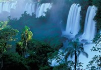 Iguacu National Park, Parana State, Iguacu Falls, Brazil Fine Art Print