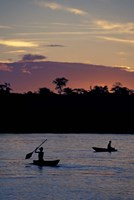 Sunset over Amazon River Basin, Peru Fine Art Print
