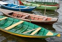 Colorful local wooden fishing boats, Alter Do Chao, Amazon, Brazil by Cindy Miller Hopkins - various sizes