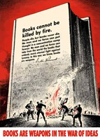 Books Cannot be Killed by Fire by John Parrot - various sizes