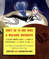 Don't Go To Bed With A Malaria Mosquito by John Parrot - various sizes