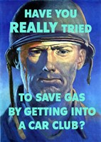 Save Gas - Car Club Fine Art Print