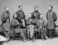 General Sherman and His Staff by John Parrot - various sizes