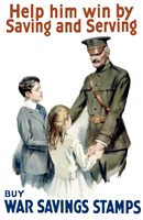 Help Him Win by Saving and Serving by John Parrot - various sizes