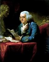 Benjamin Franklin seated at a desk Fine Art Print