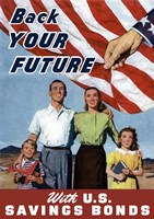Back Your Future - with US Savings Bonds by John Parrot - various sizes
