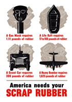 America Needs Your Scrap Rubber by John Parrot - various sizes - $47.49