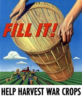 Fill It - War Crops by John Parrot - various sizes, FulcrumGallery.com brand