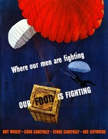 Our Food is Fighting by John Parrot - various sizes