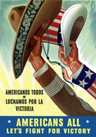 American's All - Let's Fight for Victory by John Parrot - various sizes