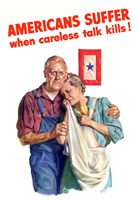 Amiercans Suffer when Careless Talk Kills by John Parrot - various sizes