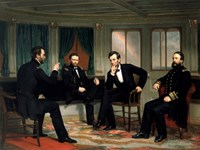Civil War Painting of The Peacemakers Fine Art Print