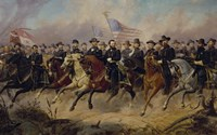 Ulysses S Grant and His Generals on Horeback Fine Art Print