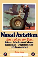 Naval Aviation has a Place for You Fine Art Print
