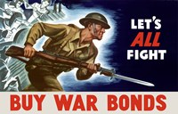 Buy War Bonds - Let's All Fight by John Parrot - various sizes, FulcrumGallery.com brand