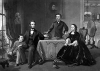 President Abraham Lincoln and His Family by John Parrot - various sizes