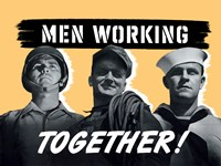 Men Working Together! by John Parrot - various sizes, FulcrumGallery.com brand