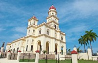 Santiago, Cuba, Basilica El Cabre, Church steeple Fine Art Print
