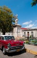 1957 Chevy car parked downtown, Mantanzas, Cuba by Bill Bachmann, 1957 - various sizes