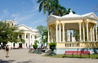 Gazebo in center of downtown, Santa Clara, Cuba by Bill Bachmann - various sizes, FulcrumGallery.com brand
