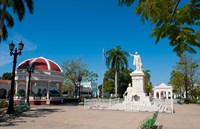 Jose Marti Square and statue in center of town, Cienfuegos, Cuba by Bill Bachmann - various sizes
