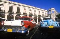 Classic Cars, Old City of Havana, Cuba Fine Art Print