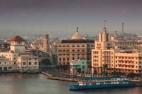 Cuba, Havana, Buildings along Havana Bay by Walter Bibikow - various sizes