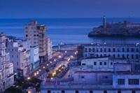Cuba, Havana, City view above Paseo de Marti, Dawn by Walter Bibikow - various sizes