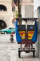 Cuba, Havana, Havana Vieja, pedal taxi Fine Art Print