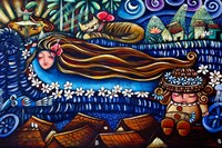Central America, Cuba, Caibarien Painting by Mayelin Perez Noa by Kymri Wilt - various sizes