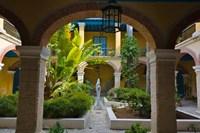 Courtyard building, historic center, Havana, UNESCO World Heritage site, Cuba by Keren Su - various sizes