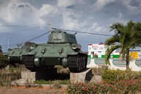 Cuba, Bay of Pigs, T-34 tank Fine Art Print