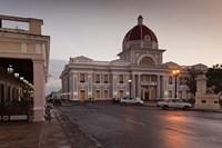 Cuba, Cienfuegos, Palacio de Gobierno, Dusk Fine Art Print
