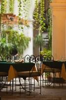 Cuba, Havana, Havana Vieja, restaurant tables by Walter Bibikow - various sizes - $36.49