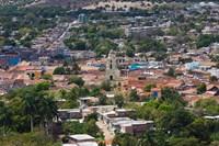 Cuba, Sancti Spiritus, Trinidad, Aerial view of town by Walter Bibikow - various sizes