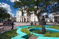 Cuba, Santa Clara, Parque Vidal, Teatro La Caridad Fine Art Print